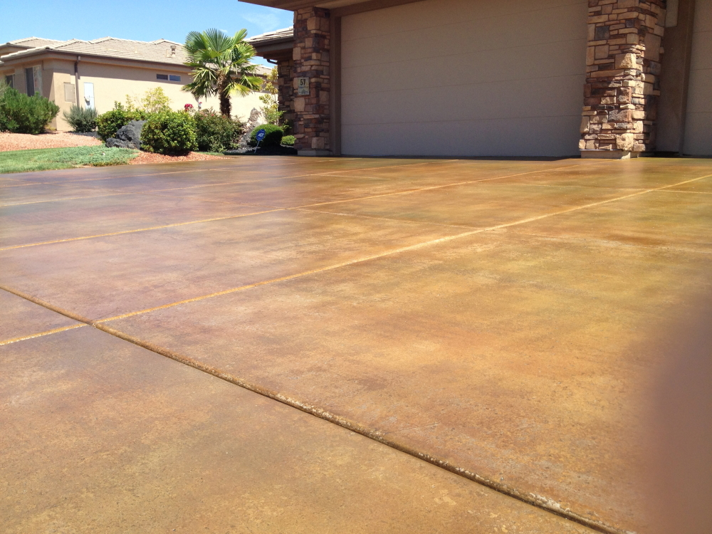 Concrete acid staining utah stained concrete salt lake for Acid wash concrete patio