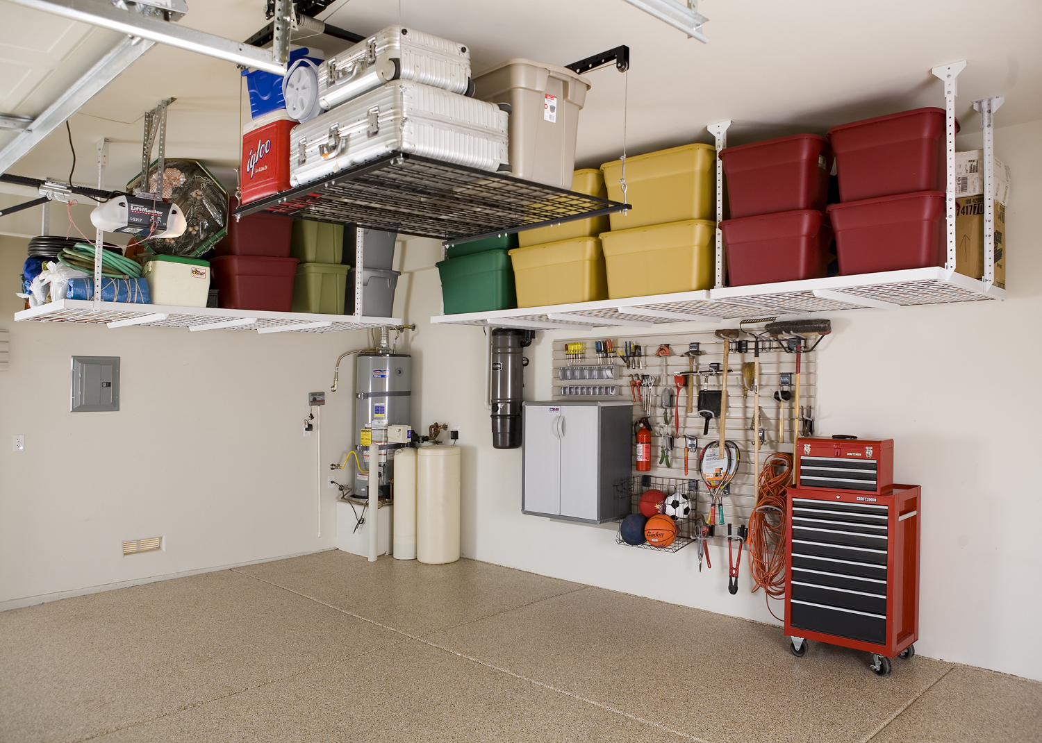 ceiling overhead ove of photo storage kinggeorgehomes home ideas x garage com depot