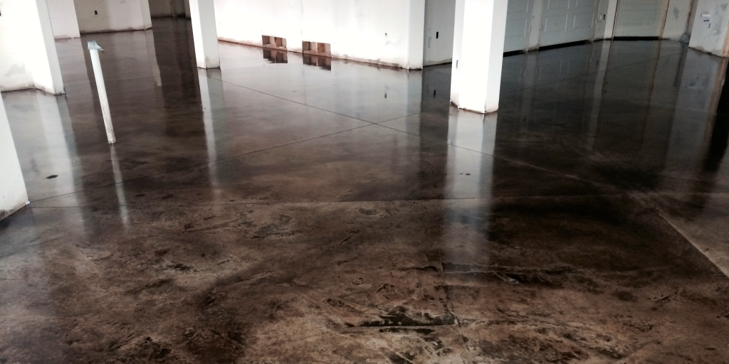 concrete acid staining stain salt lake city wash colors vs garage floors