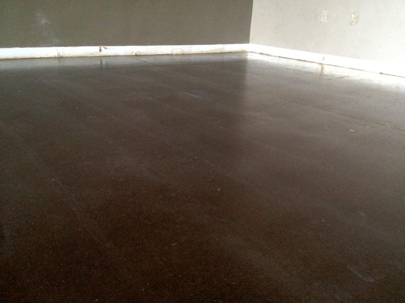 Quality Pro Polished Concrete Walnut Stain