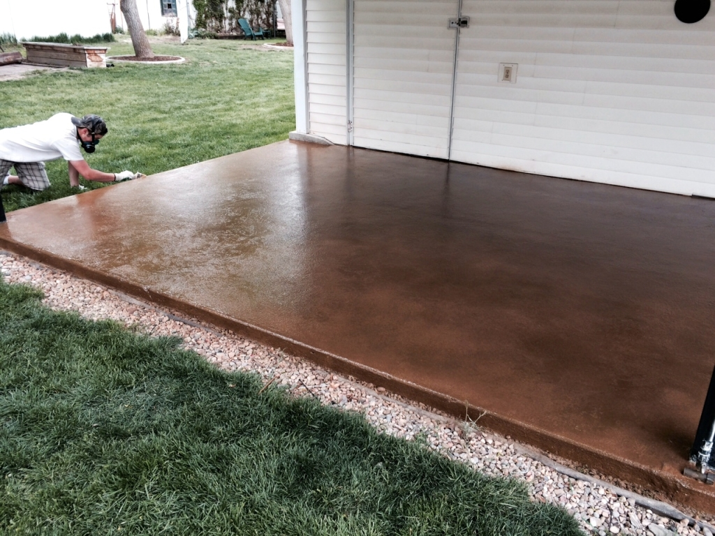 For Concrete Patio Resurfacing And New Stain Ideas